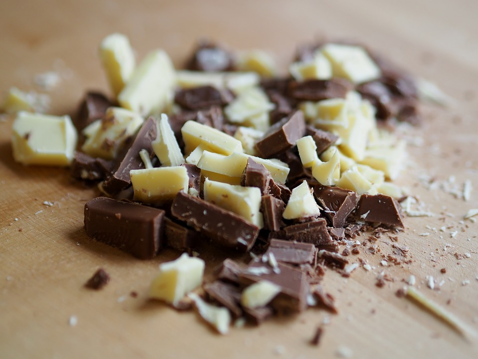 Chocoladevlek verwijderen